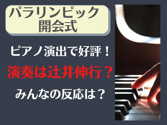 パラ開会式ピアノ演出で好評!演奏は辻井伸行?みんなの反応は?