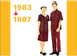 1983~1987年のマックのユニフォーム画像