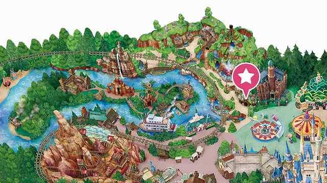 ディズニーランドのマップ